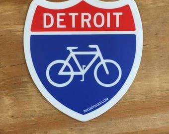 Detroit Bike Sticker
