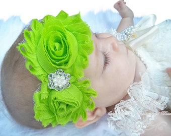 Lime Green Headband/Baby Headband/Baby Girl Hair Accessories/Infant Headband/Baby Girl Headband/Girl Headband Baby/Toddler Headband/Headband