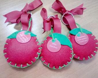 Handmade Fruit Keyrings