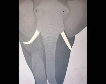 African Elephant Original Painting
