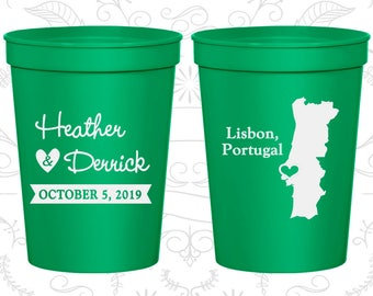 Green Stadium Cups, Green Cups, Green Party Cups, Green Wedding Cups (189)