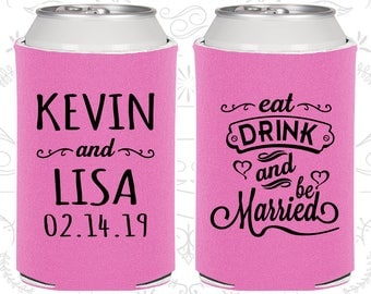 Orchid Wedding, Orchid Can Coolers, Orchid Wedding Favors, Orchid Wedding Gift, Orchid Party Decorations (239)