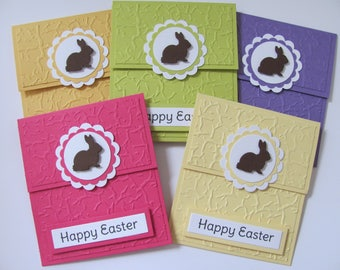 Easter bunny card etsy easter gift card holder easter cards easter gift gift for kids happy negle Image collections