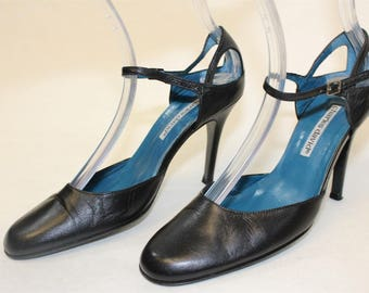 CLEARANCE Shoes, CHARLES DAVID Pumps, Mary Jane High Heel Pumps, Womens Designer Shoes, Shoes 6M,  Made in Spain,