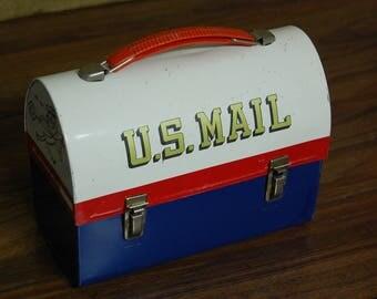 Vintage U.S. Mailbox Lunch box, vintage school lunch, vintage post office, vintage mailbox, collectible lunch box, metal lunchbox