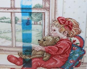 Janlynn counted cross stitch Window Seat  kit  008-0172