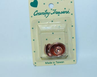 Country Treasure Minature Copper Mixing Bowls 2104  Made In Taiwan Dollhouse, Shadowbox