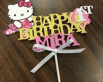 Hello Kitty Cake Topper , Hello Kitty Centerpiece, Hello Kitty Birthday Party Hello Kitty Birthday,Hello Kitty Party, Hello Kitty Banner