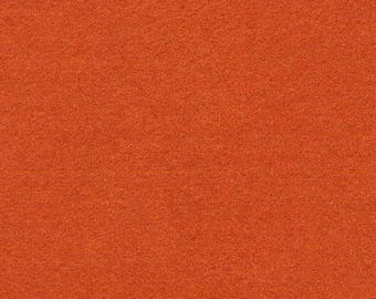 Felt orange rust color 1.5 mm A4 size sheet