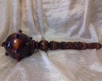 wooden Mace carving