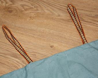 Viking overdress/hangerock/pini blue, linen