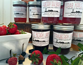 3 Jars of Homemade Jam - Choose from our 60+ Flavors of Jam - Housewarming Gift - Hostess Gift - Boondock Enterprises - Farmers Market Jelly