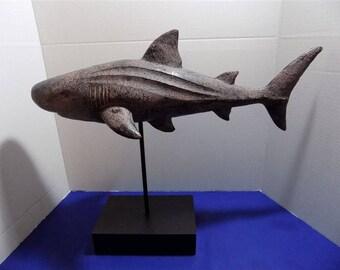 NEW Modern Shark Sculpture PVC Resin Collectible Figurine Fish Ocean Nautical Home Decor Gift