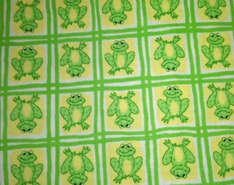 Green Frog Fabric