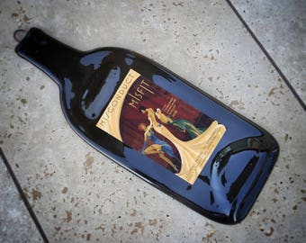 Custom Orders Welcome Misconduct Misfit Wine Slumped Melted Flattened Wine Bottle Cheese Tray Spoonrest Anniversary Wedding & Custom Orders Welcome Big Pecker Chardonnay Slumped Melted