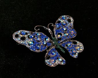 Big Blue Butterfly Hair Jewelry