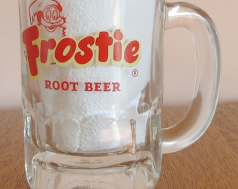1960s Frostie Root Beer Glass Mug Hazel Atlas