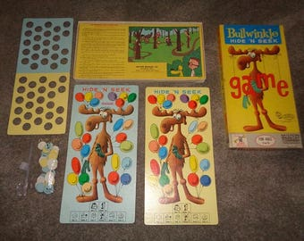 Bullwinkle Hide and Seek game in the box nice &  made in the USA