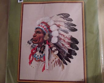 "Sunset Designs Sunset Stitchery Kit ""Indian Chief"""