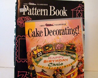 Wilton Yearbook pattern book 1991, cake pattern book, Wilton Cake Decorating, cake patterns