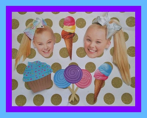 Jojo Siwa Cake Toppers Labels Party Favors Birthday Party