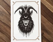 LIMITED Astral Goat  - Tattoo print 50/50 signed