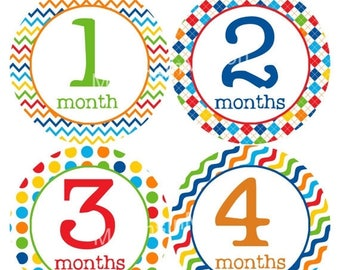 Monthly Stickers Monthly Baby Stickers Baby Month Milestone Stickers Baby Month Stickers Month to Month Bodysuit Stickers Shower Gift 192
