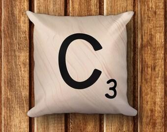 """Scrabble Letter Pillow - 18"""" x 18"""" Square Pillow"""