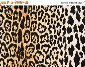 Velvety Cotton Leopard Print Fabric Braemore Jamil Natural Home Decor Fabric By The Yard