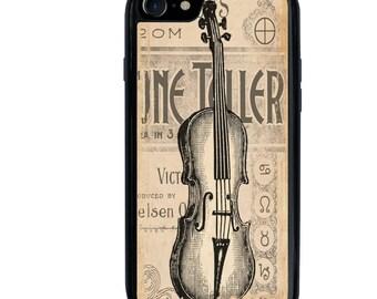 Music Phone Case, Gypsy, Fortune Teller, Violin, iPhone 5 5s 6 6s 6+ 6s+ SE 7 7+ iPod 5 6 Case, Plus