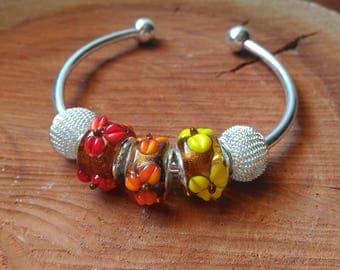 Handmade Glassbeaded Bangle