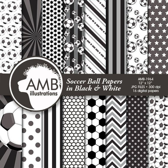Sports Digital Paper Soccer Papers And Backgrounds Football