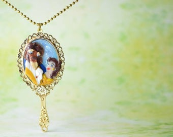 Disney Inspired Beauty and the Beast Magic Mirror Necklace