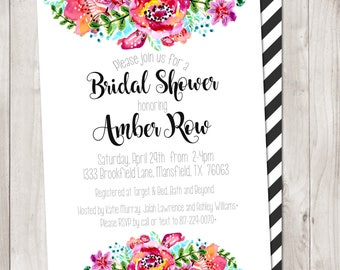 Floral Wedding Shower Invitation