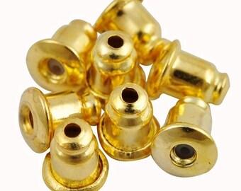 200 pcs Golden earring nuts,Golden earring back,Golden ear back,Golden earring finding,golden earring setting,ear nut,iron ear nut,ear back