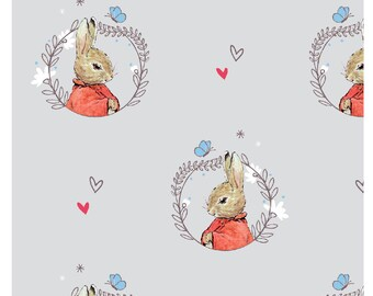 Peter Rabbit Beatrix Potter fabric craft cotton Frederick Warne & Co Grey 5 101