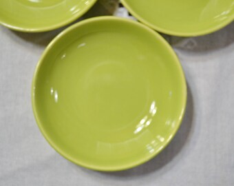 Vintage Universal Ballerina Fruit Bowl Set of 3 Lime Green Union Made USA Replacement PanchosPorch