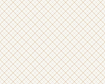 Bee Backgrounds - Grid Orange by Lori Holt of Bee in My Bonnet for Riley Blake, 1/2 yard, C6383-Orange