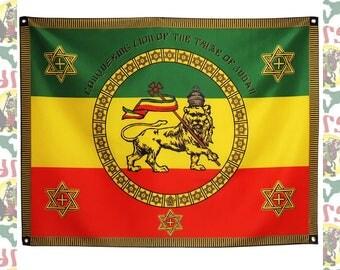Imperial Standard[drs]Tapestry(Big Flag)/(roots reggae dub rastafari africa ethiopia jamaica haile selassie i)