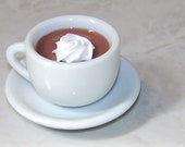 Faux Real Food. Cup Of Cocoa and Saucer For American Girl Dolls