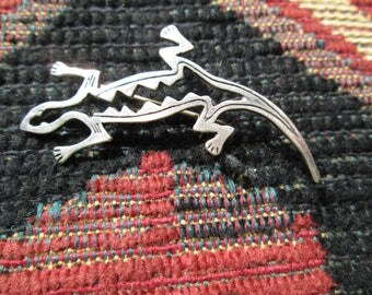 Sterling Silver Lizard Pin/Brooch