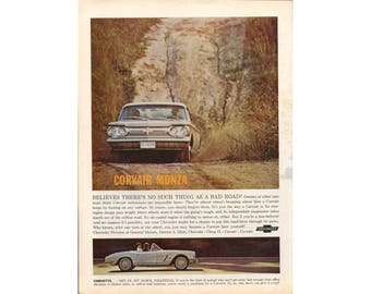 Poster advertisement of a 1962 Corvair Monza  - 33