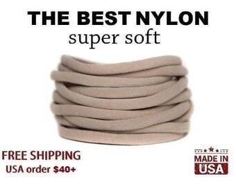 Nylon Headbands, NUDE nylon headbands, Baby Headband, Wholesale Nylon Headbands, bulk headbands, elastic one size fits all, DIY headband