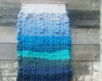Blues Handwoven Tapestry