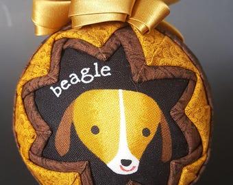 "Beagle ""Snow Globe"" Ornament"