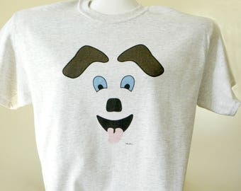 FOR the DOG LOVER you know: This T-shirt has been created by Pam Ponsart of Pam's Fab Photos featuring the face of a Happy Dog