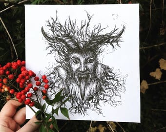 Krampus - Print from Original Pen & Ink Drawing