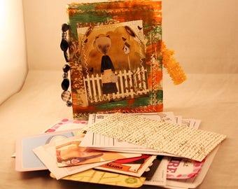 Altered envelope junk journal and ephemera kit