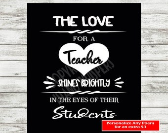 Teacher Appreciation, Teacher Valentine Gift, Teacher Print, Teacher Poster, Teacher Printable, Teacher Quick Gift, Instant Download