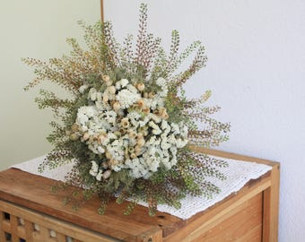 Dried wedding bouquet ,  Natural Dried Bouquet,  Cottage Decor Shabby Bouquets